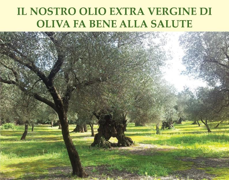 Il nostro Olio Extra Vergine di Oliva fa bene alla salute
